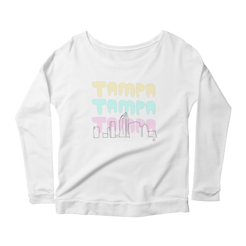 A TAMPA SKYLINE Women's Scoop Neck Longsleeve T-Shirt by thatssotampa's Artist Shop