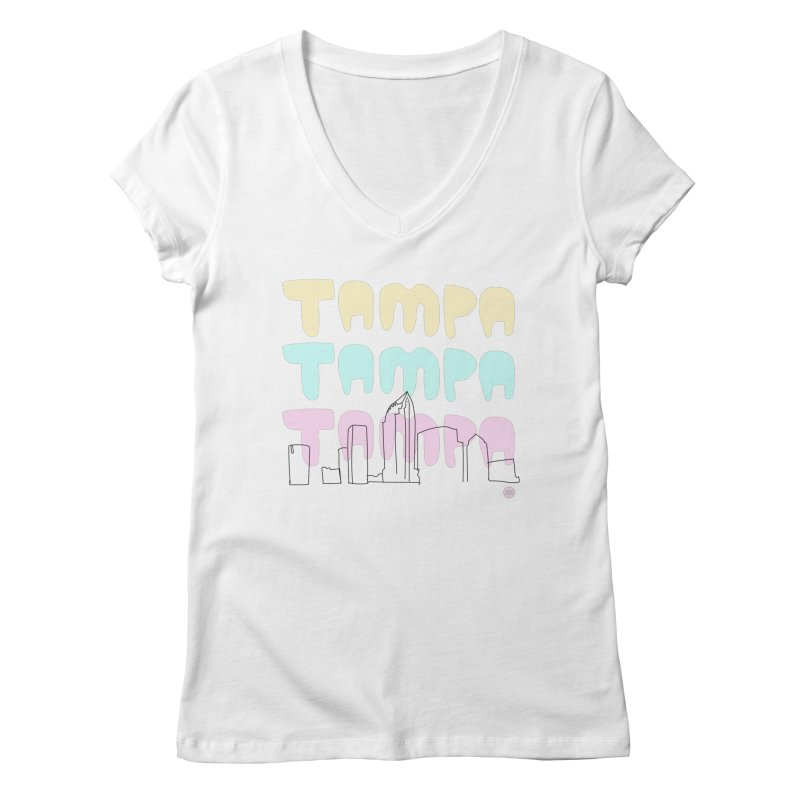 A TAMPA SKYLINE Women's Regular V-Neck by thatssotampa's Artist Shop