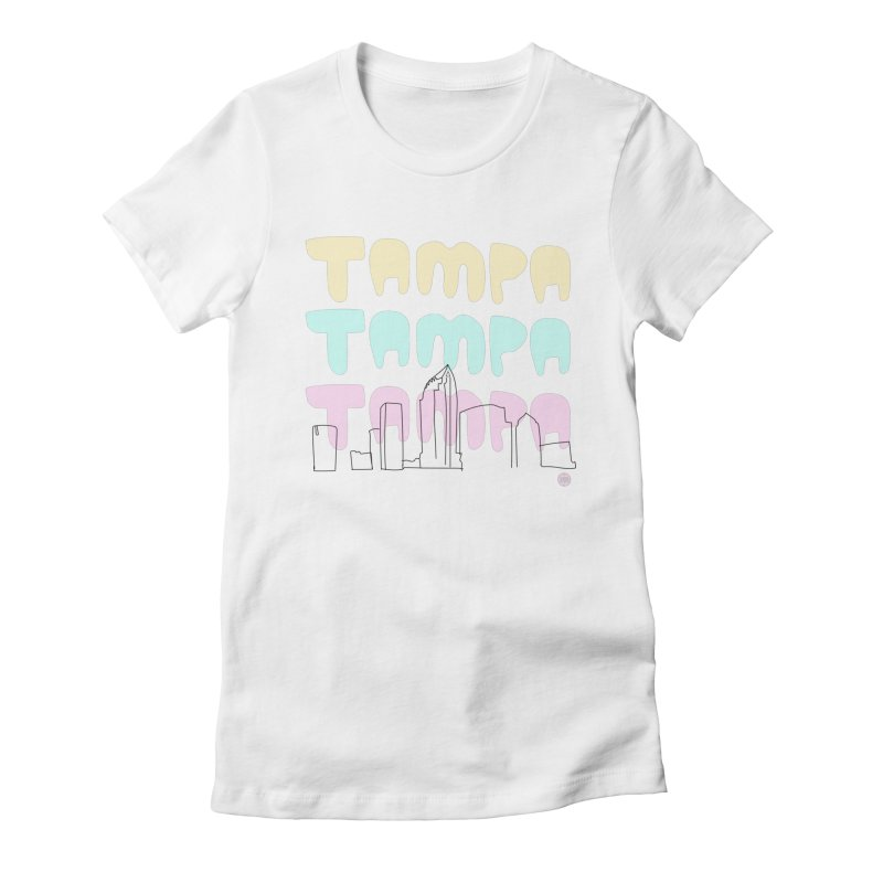 A TAMPA SKYLINE Women's Fitted T-Shirt by thatssotampa's Artist Shop