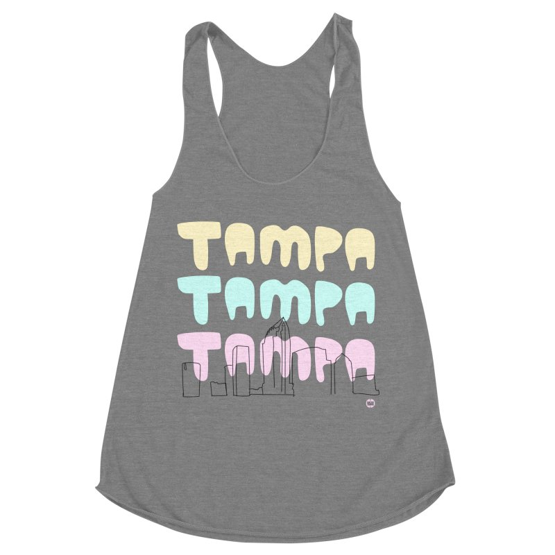 A TAMPA SKYLINE Women's Racerback Triblend Tank by thatssotampa's Artist Shop