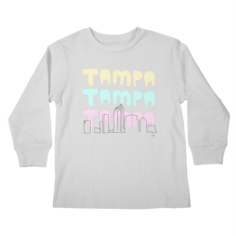 A TAMPA SKYLINE Kids Longsleeve T-Shirt by thatssotampa's Artist Shop