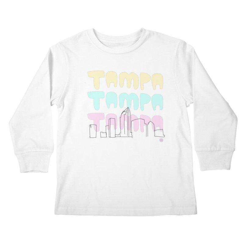 A TAMPA SKYLINE Kids Longsleeve T-Shirt by thatssotampa's Artist Shop