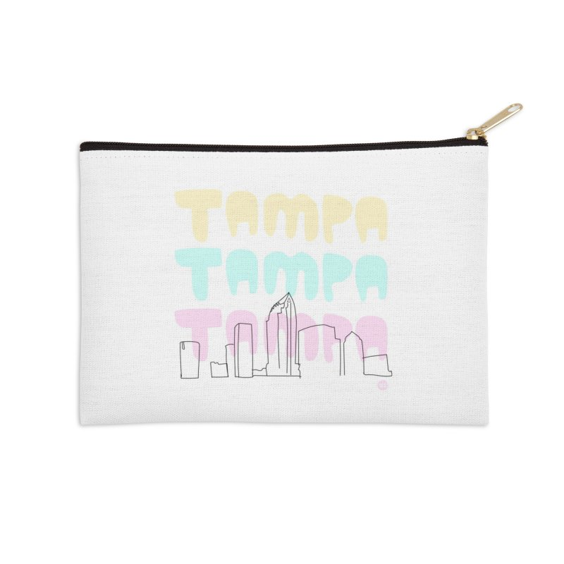 A TAMPA SKYLINE Accessories Zip Pouch by thatssotampa's Artist Shop
