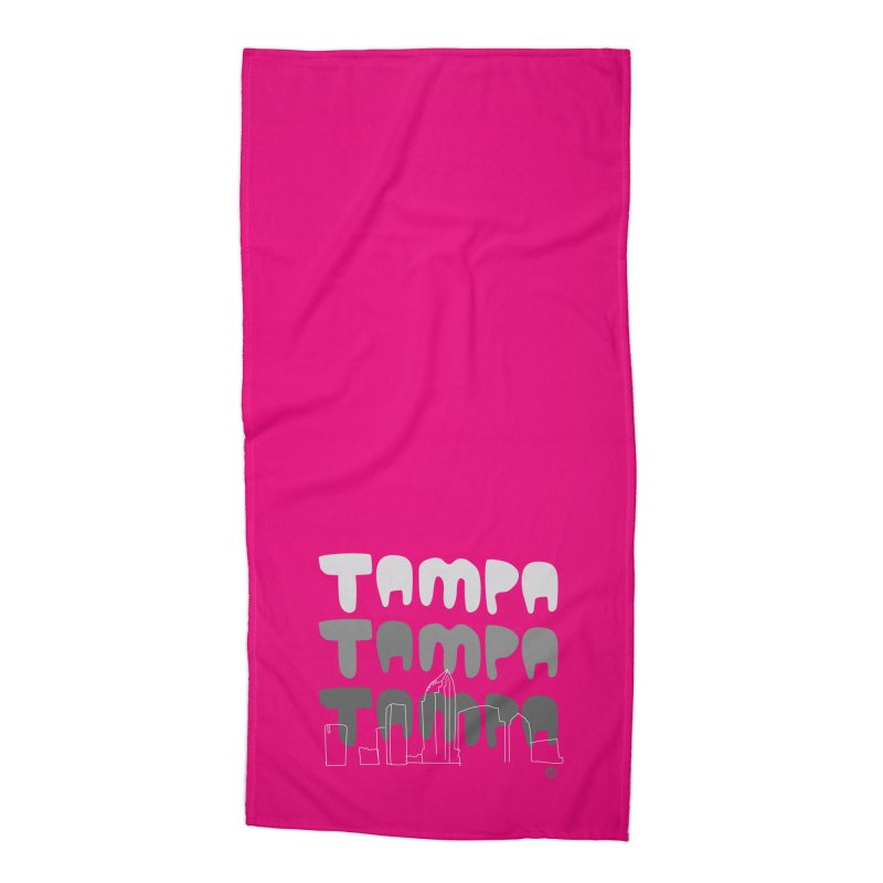 A TAMPA SKYLINE | GRAYSCALE Accessories Beach Towel by thatssotampa's Artist Shop