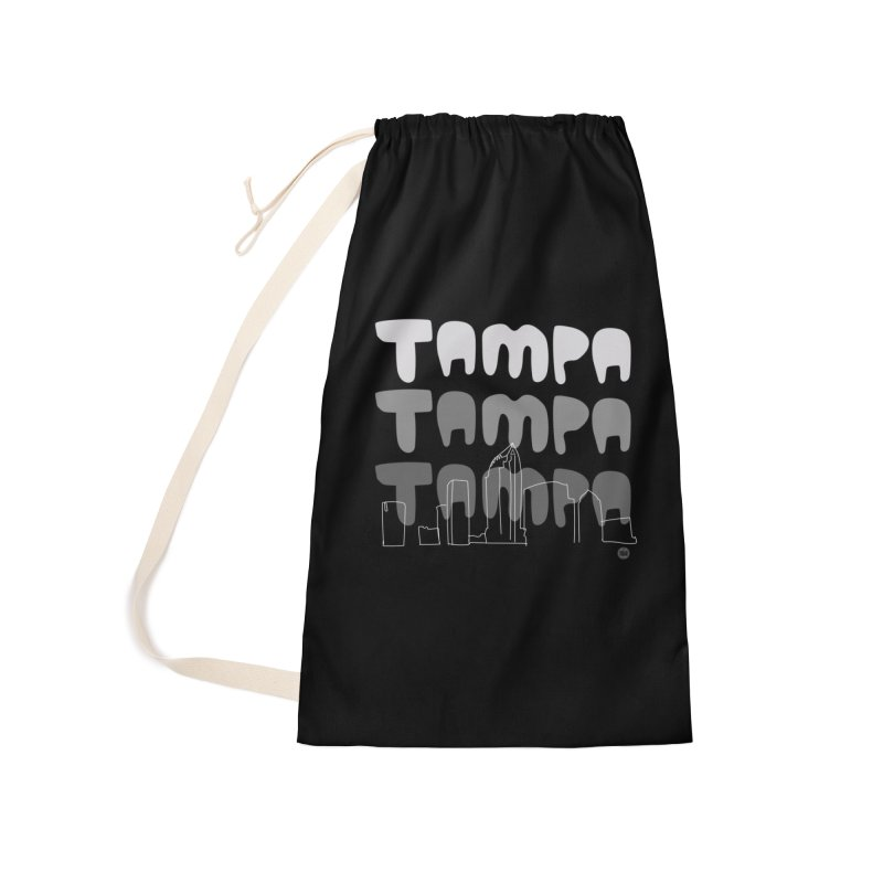 A TAMPA SKYLINE | GRAYSCALE Accessories Laundry Bag Bag by thatssotampa's Artist Shop