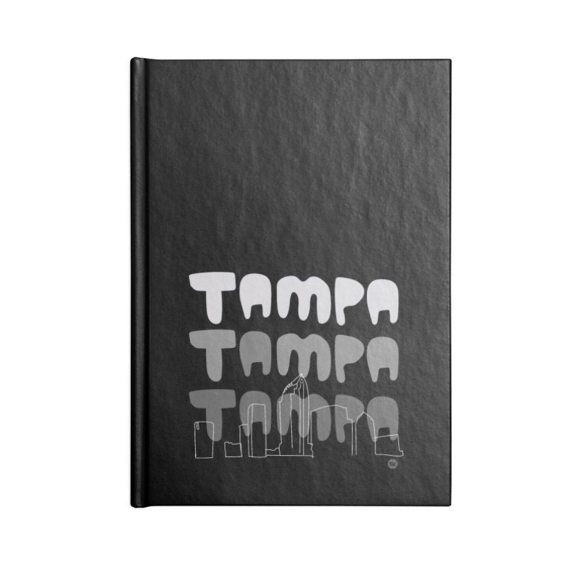 A TAMPA SKYLINE | GRAYSCALE Accessories Blank Journal Notebook by thatssotampa's Artist Shop