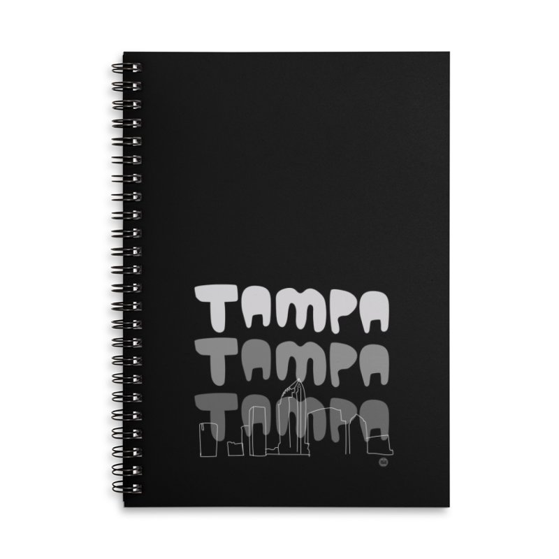 A TAMPA SKYLINE | GRAYSCALE Accessories Lined Spiral Notebook by thatssotampa's Artist Shop