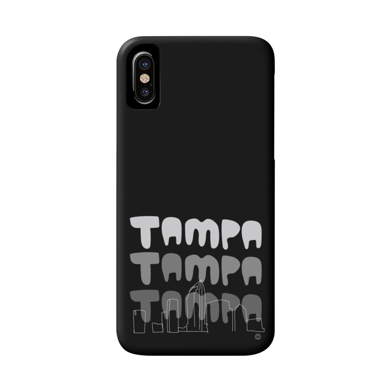 A TAMPA SKYLINE | GRAYSCALE Accessories Phone Case by thatssotampa's Artist Shop