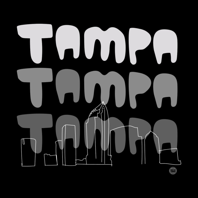 A TAMPA SKYLINE | GRAYSCALE Men's T-Shirt by thatssotampa's Artist Shop