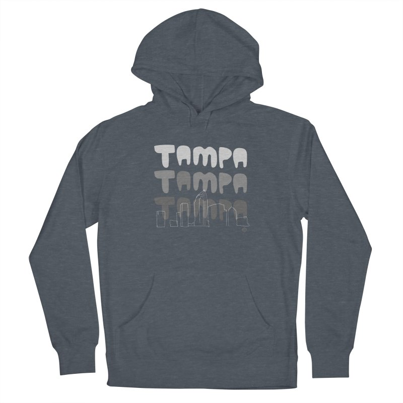 A TAMPA SKYLINE | GRAYSCALE Men's French Terry Pullover Hoody by thatssotampa's Artist Shop