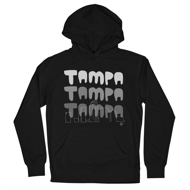 A TAMPA SKYLINE   GRAYSCALE Men's French Terry Pullover Hoody by thatssotampa's Artist Shop