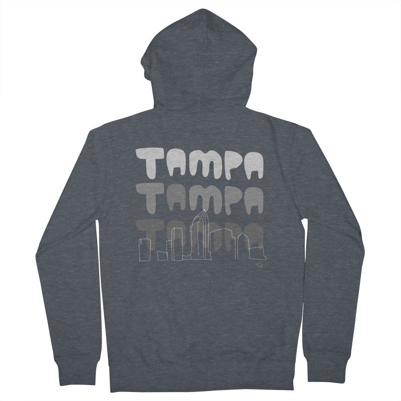 A TAMPA SKYLINE   GRAYSCALE Women's French Terry Zip-Up Hoody by thatssotampa's Artist Shop