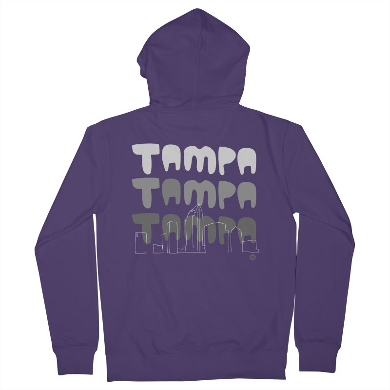 A TAMPA SKYLINE | GRAYSCALE Women's Zip-Up Hoody by thatssotampa's Artist Shop