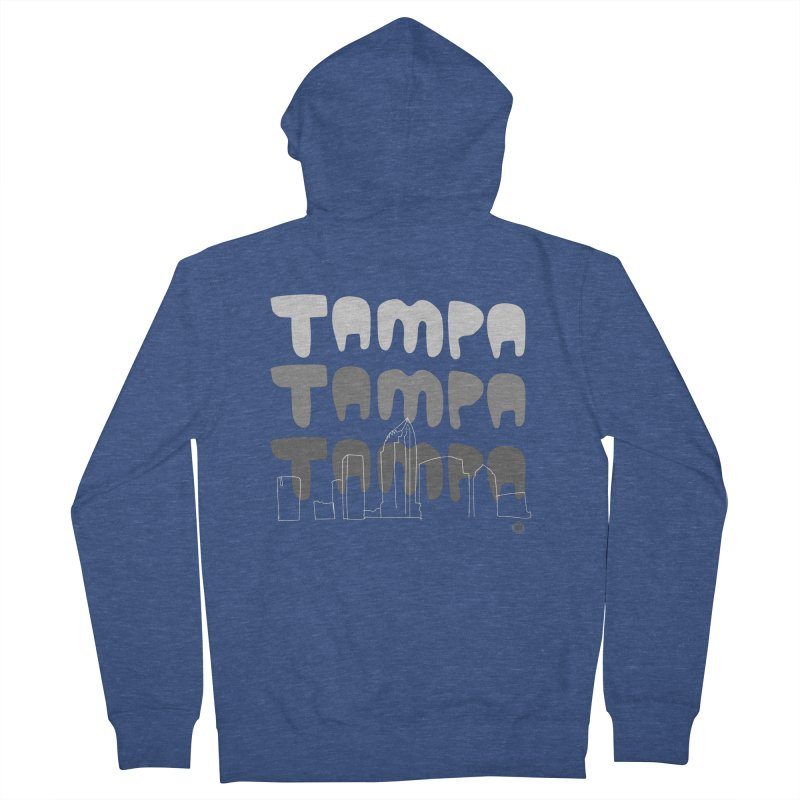 A TAMPA SKYLINE | GRAYSCALE Men's French Terry Zip-Up Hoody by thatssotampa's Artist Shop