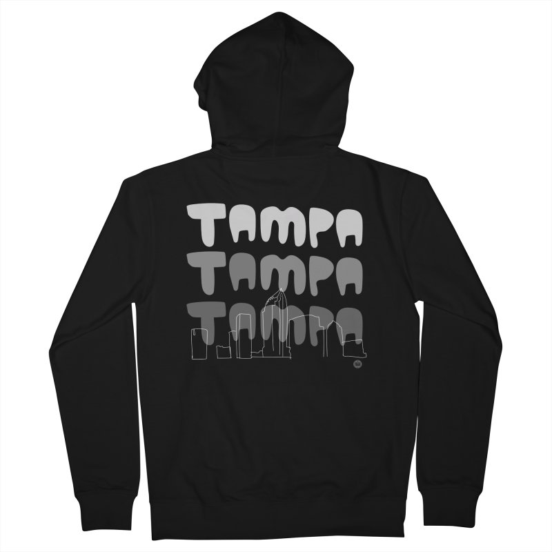 A TAMPA SKYLINE   GRAYSCALE Men's French Terry Zip-Up Hoody by thatssotampa's Artist Shop