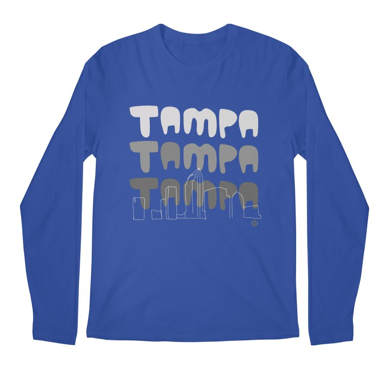 A TAMPA SKYLINE | GRAYSCALE Men's Regular Longsleeve T-Shirt by thatssotampa's Artist Shop