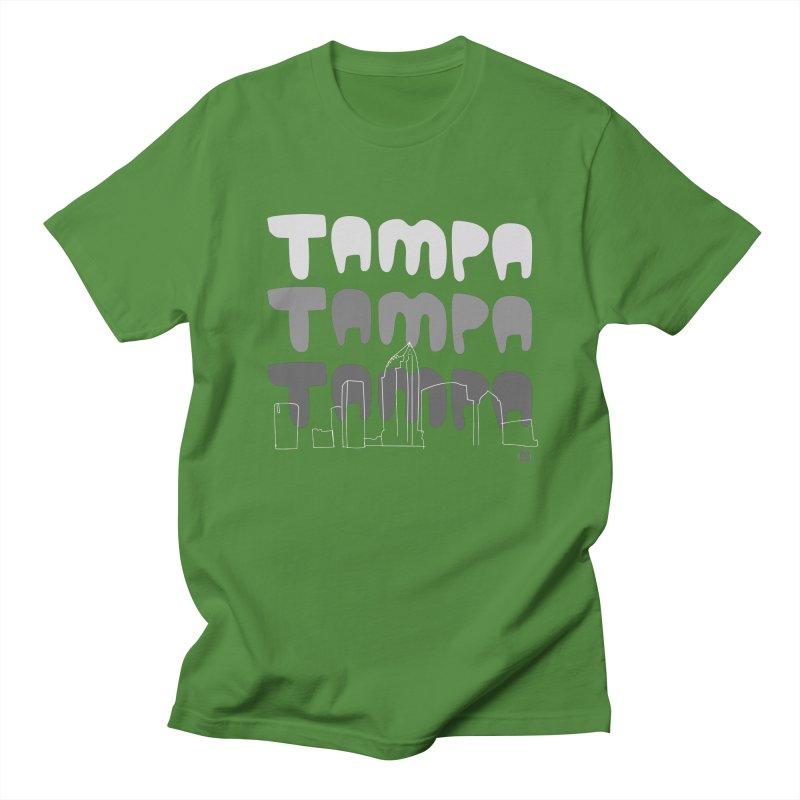 A TAMPA SKYLINE | GRAYSCALE Women's Regular Unisex T-Shirt by thatssotampa's Artist Shop