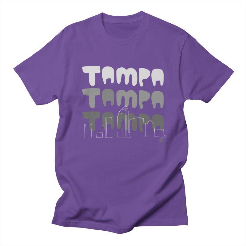 A TAMPA SKYLINE | GRAYSCALE Men's Regular T-Shirt by thatssotampa's Artist Shop