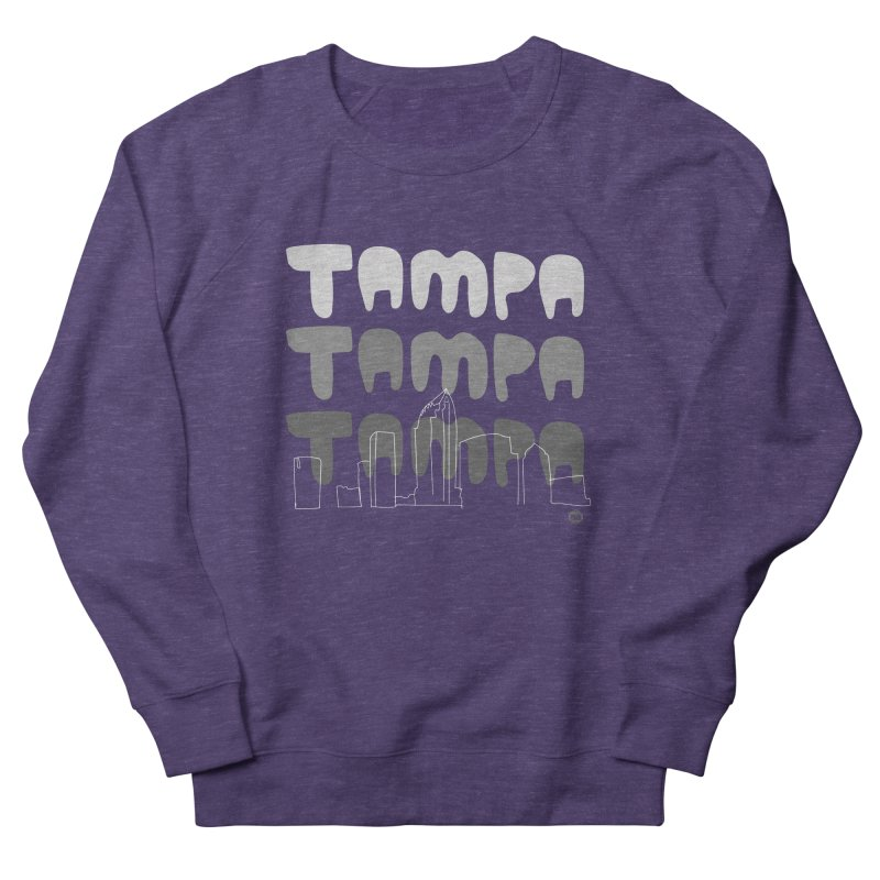 A TAMPA SKYLINE | GRAYSCALE Men's French Terry Sweatshirt by thatssotampa's Artist Shop