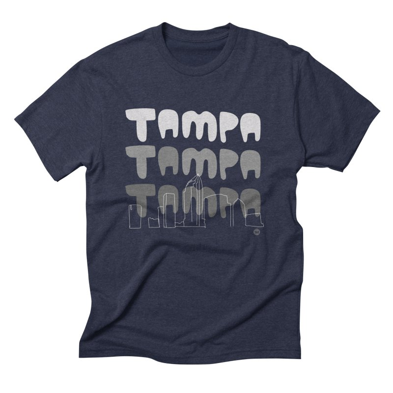 A TAMPA SKYLINE | GRAYSCALE Men's Triblend T-Shirt by thatssotampa's Artist Shop