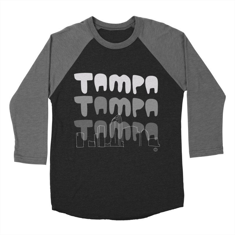 A TAMPA SKYLINE | GRAYSCALE Men's Baseball Triblend Longsleeve T-Shirt by thatssotampa's Artist Shop