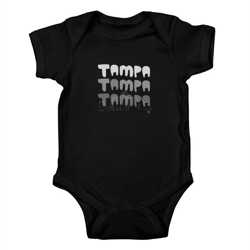 A TAMPA SKYLINE | GRAYSCALE Kids Baby Bodysuit by thatssotampa's Artist Shop