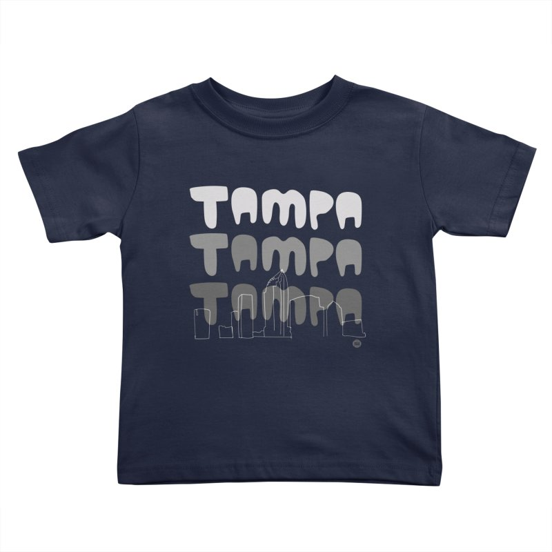A TAMPA SKYLINE | GRAYSCALE Kids Toddler T-Shirt by thatssotampa's Artist Shop