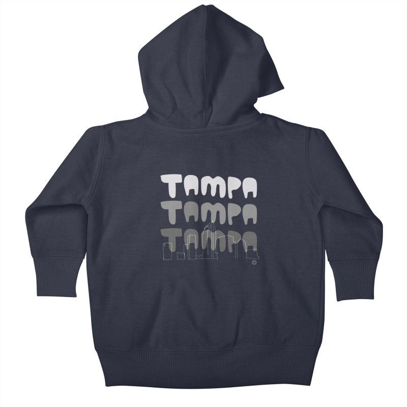 A TAMPA SKYLINE | GRAYSCALE Kids Baby Zip-Up Hoody by thatssotampa's Artist Shop