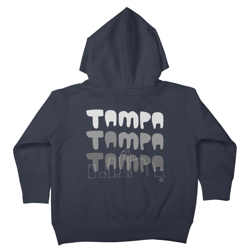 A TAMPA SKYLINE | GRAYSCALE Kids Toddler Zip-Up Hoody by thatssotampa's Artist Shop