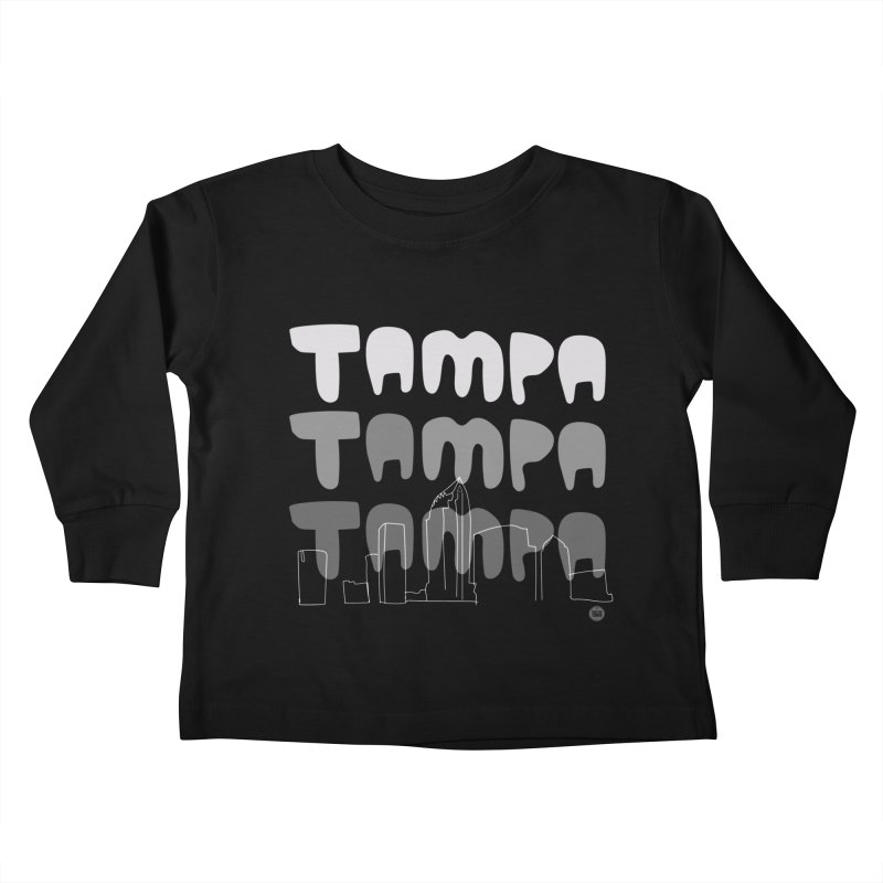 A TAMPA SKYLINE | GRAYSCALE Kids Toddler Longsleeve T-Shirt by thatssotampa's Artist Shop