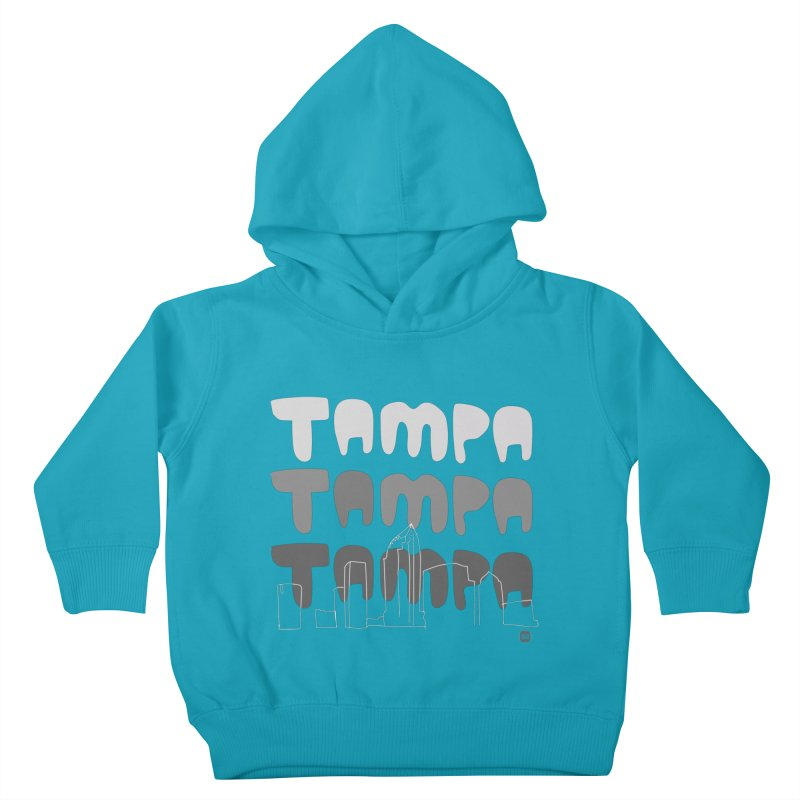 A TAMPA SKYLINE | GRAYSCALE Kids Toddler Pullover Hoody by thatssotampa's Artist Shop