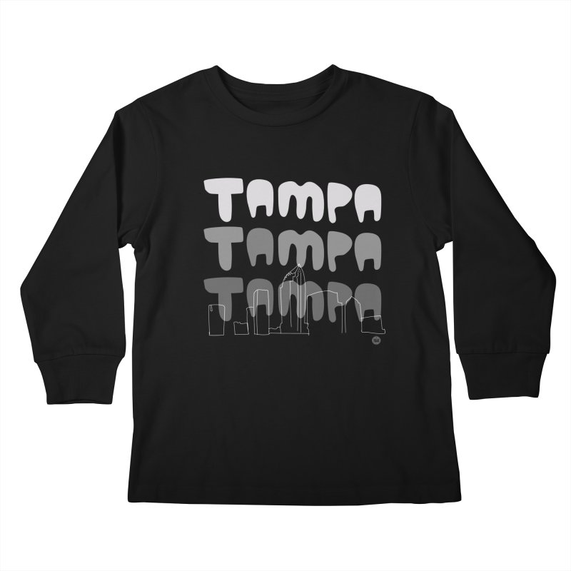 A TAMPA SKYLINE | GRAYSCALE Kids Longsleeve T-Shirt by thatssotampa's Artist Shop