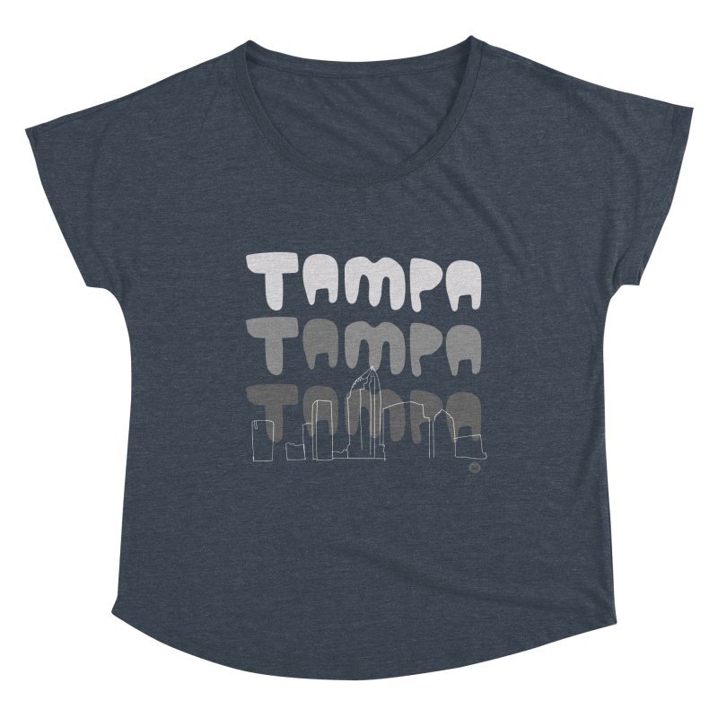 A TAMPA SKYLINE   GRAYSCALE Women's Scoop Neck by thatssotampa's Artist Shop