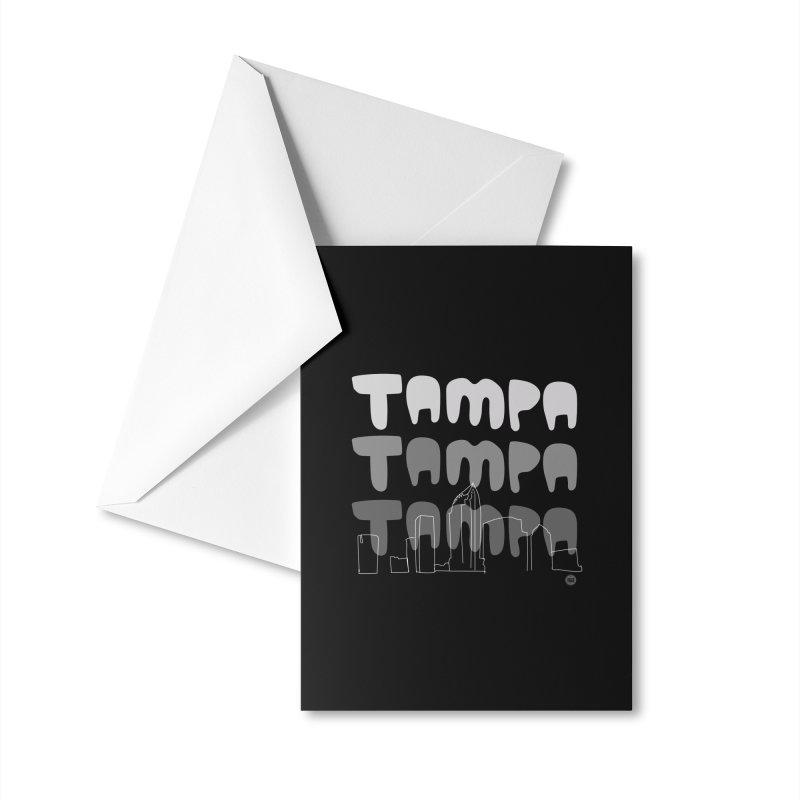 A TAMPA SKYLINE | GRAYSCALE Accessories Greeting Card by thatssotampa's Artist Shop