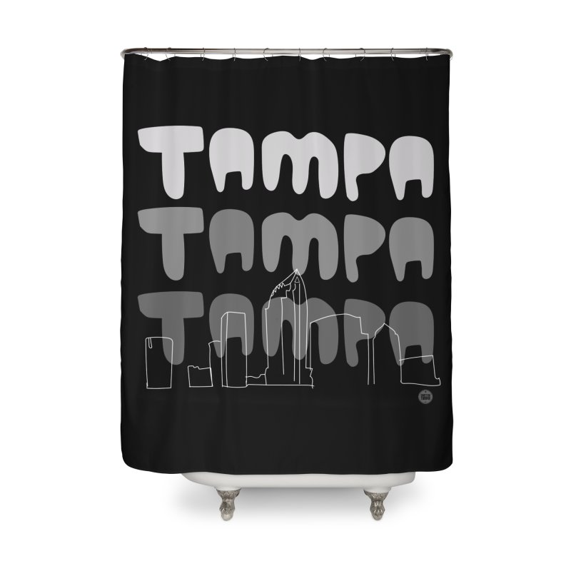 A TAMPA SKYLINE | GRAYSCALE Home Shower Curtain by thatssotampa's Artist Shop