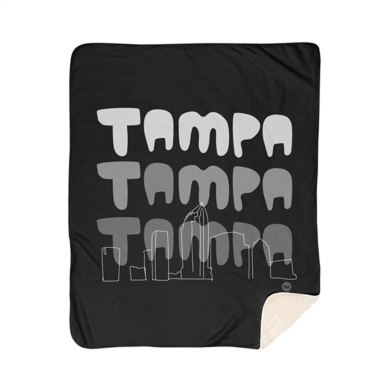A TAMPA SKYLINE | GRAYSCALE Home Sherpa Blanket Blanket by thatssotampa's Artist Shop