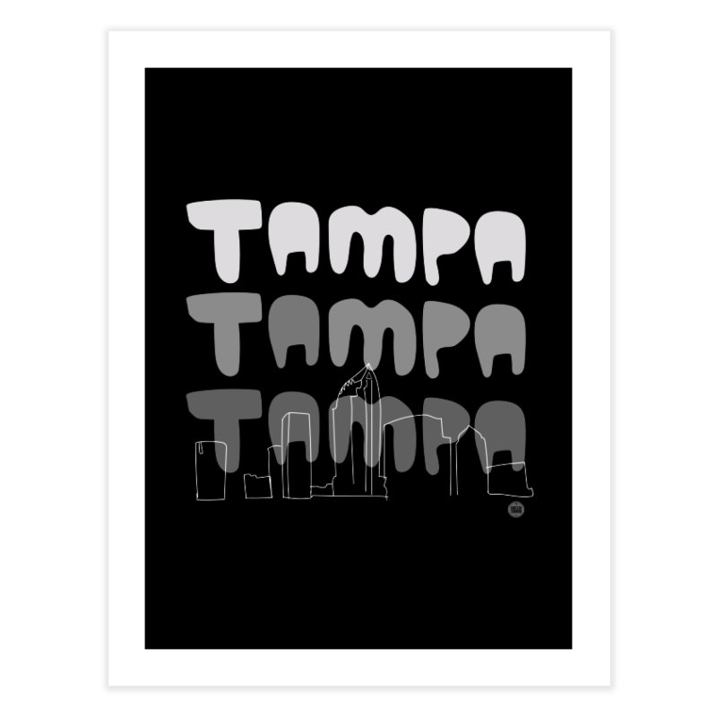A TAMPA SKYLINE | GRAYSCALE Home Fine Art Print by thatssotampa's Artist Shop