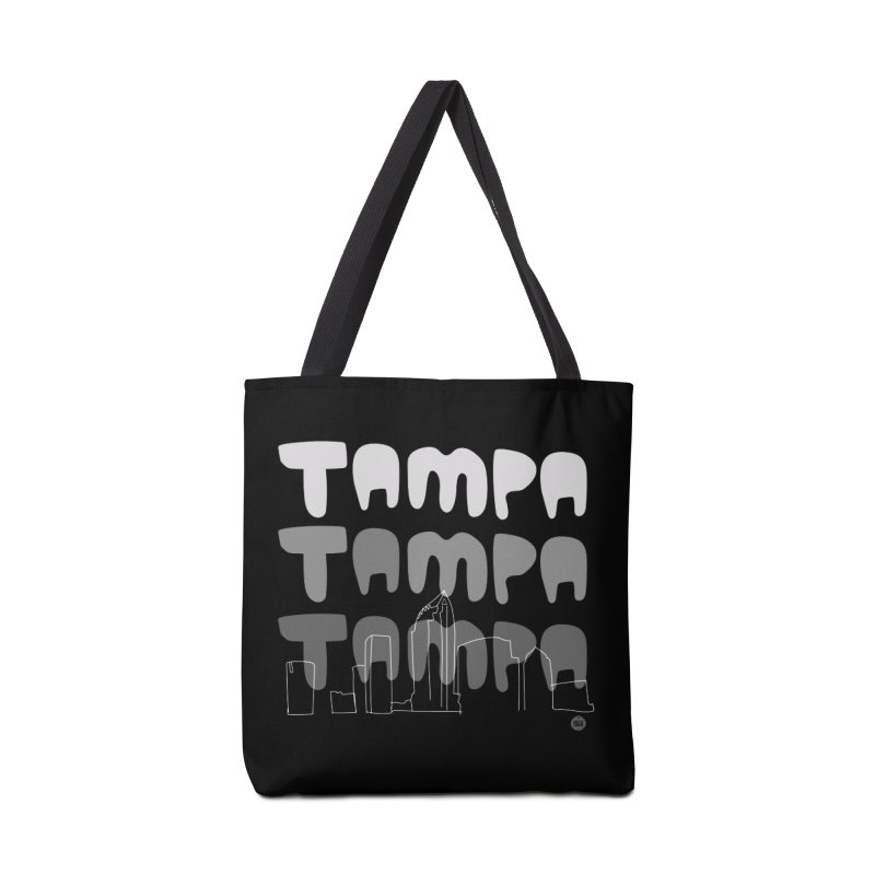 A TAMPA SKYLINE | GRAYSCALE Accessories Tote Bag Bag by thatssotampa's Artist Shop