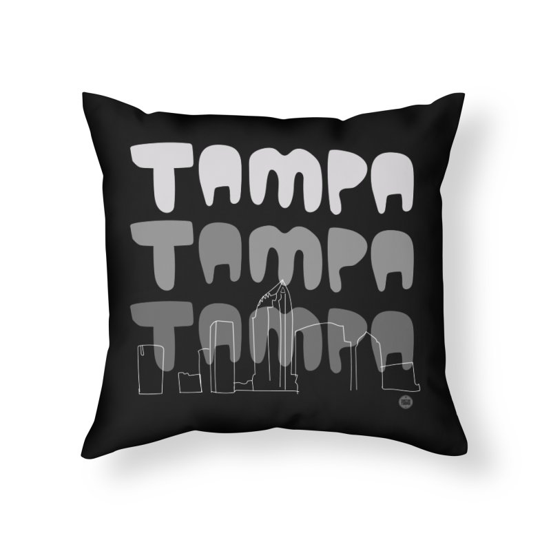 A TAMPA SKYLINE | GRAYSCALE Home Throw Pillow by thatssotampa's Artist Shop