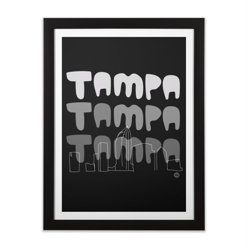 A TAMPA SKYLINE | GRAYSCALE Home Framed Fine Art Print by thatssotampa's Artist Shop