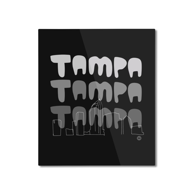 A TAMPA SKYLINE | GRAYSCALE Home Mounted Aluminum Print by thatssotampa's Artist Shop