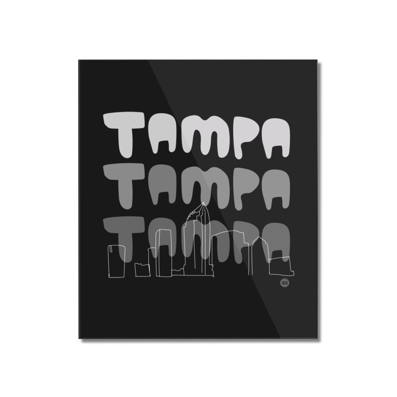 A TAMPA SKYLINE | GRAYSCALE Home Mounted Acrylic Print by thatssotampa's Artist Shop