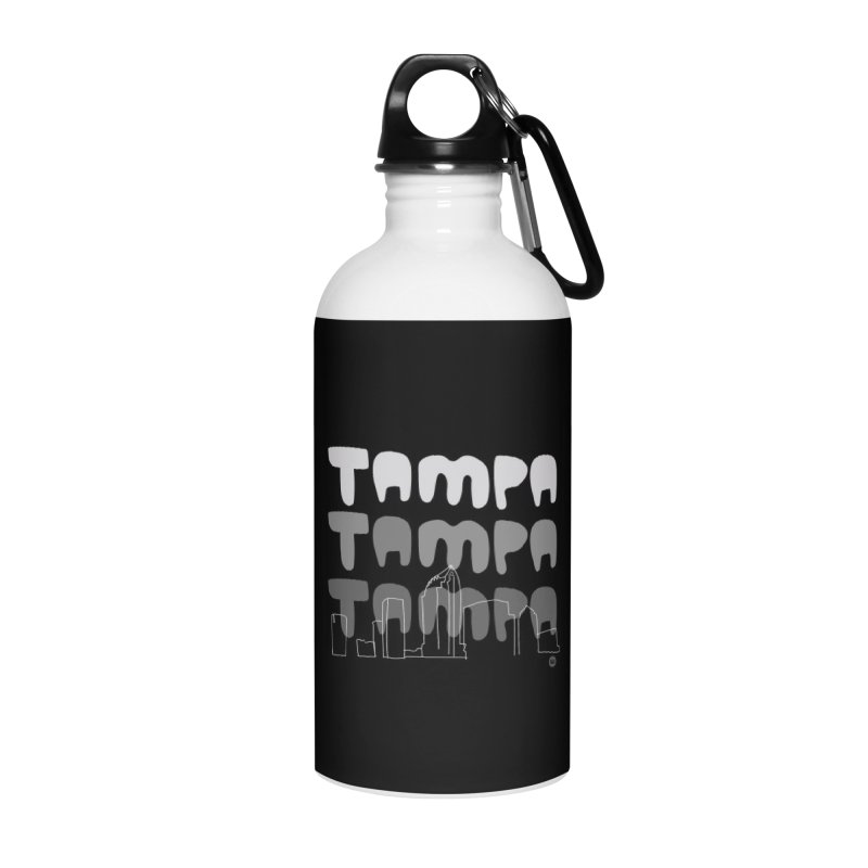 A TAMPA SKYLINE | GRAYSCALE Accessories Water Bottle by thatssotampa's Artist Shop