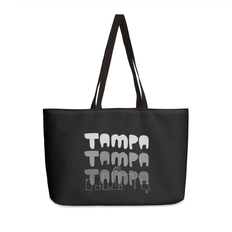 A TAMPA SKYLINE | GRAYSCALE Accessories Weekender Bag Bag by thatssotampa's Artist Shop