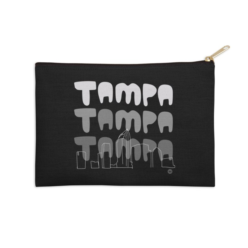 A TAMPA SKYLINE | GRAYSCALE Accessories Zip Pouch by thatssotampa's Artist Shop