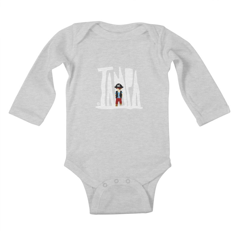 The Tampa Pirate Kids Baby Longsleeve Bodysuit by thatssotampa's Artist Shop