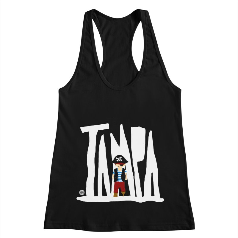 The Tampa Pirate Women's Racerback Tank by thatssotampa's Artist Shop