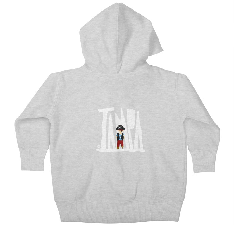 The Tampa Pirate Kids Baby Zip-Up Hoody by thatssotampa's Artist Shop