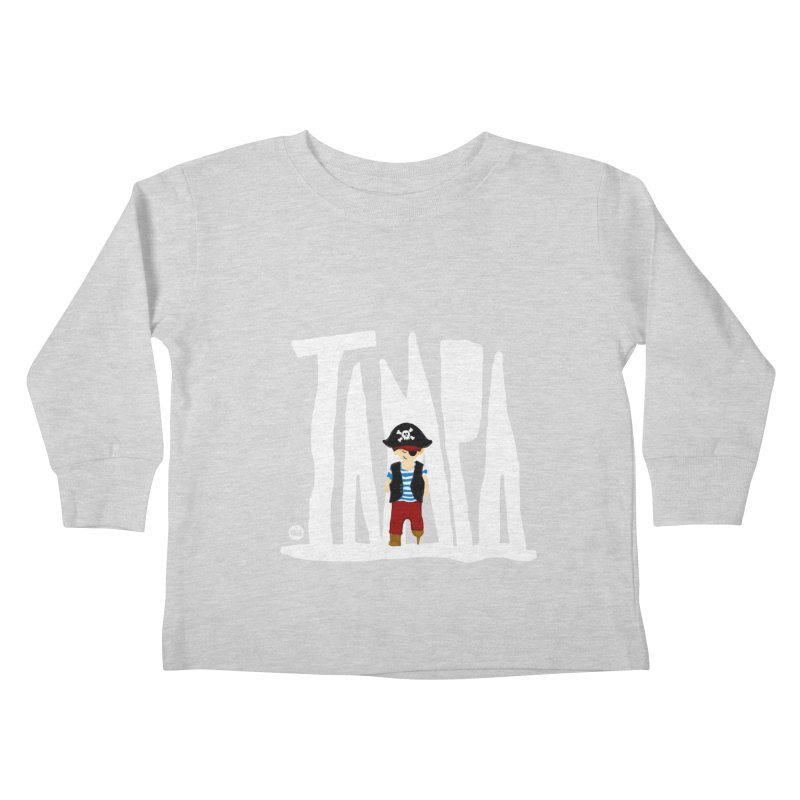 The Tampa Pirate Kids Toddler Longsleeve T-Shirt by thatssotampa's Artist Shop