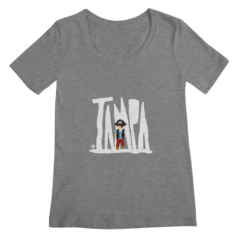 The Tampa Pirate Women's Scoopneck by thatssotampa's Artist Shop